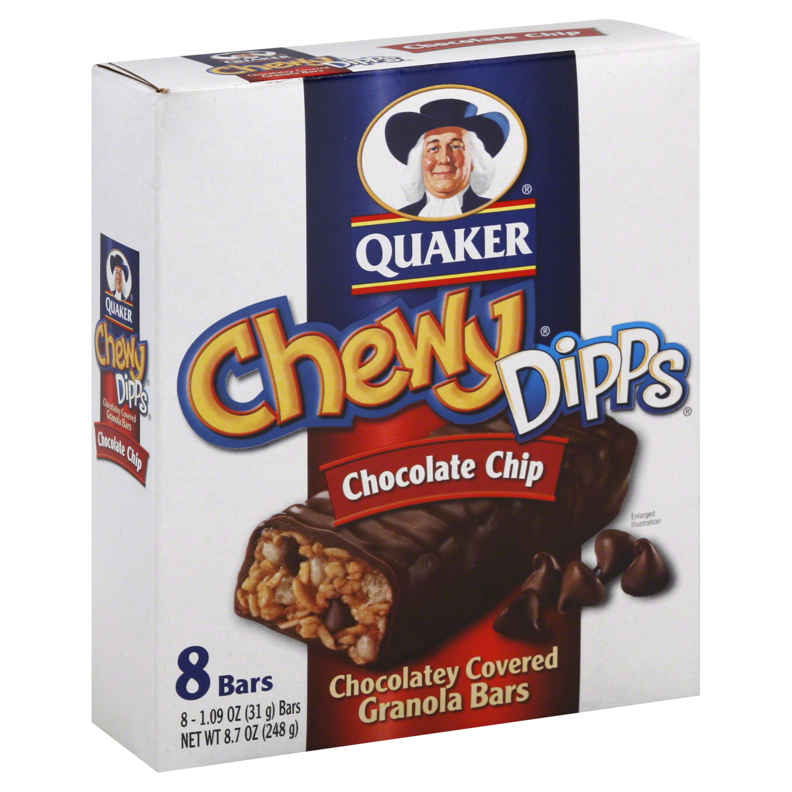 Quaker Chewy Dipps Chocolate Chip Granola Bars Food Product Image