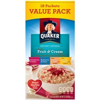 Quaker Instant Oatmeal Fruit And Cream
