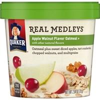 Quaker Real Medleys Apple Walnut Oatmeal Product Image