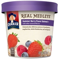 Quaker Real Medleys Summer Berry Oatmeal Food Product Image