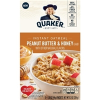 Quaker Peanut Butter & Honey Instant Oatmeal - 6ct Product Image