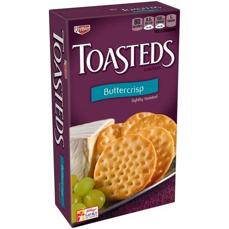 Keebler Toasteds Buttercrisp Crackers Food Product Image