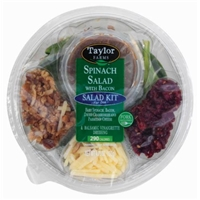 Taylor Farms Spinach Bacon Dried Cranberries & Parmesan Cheese Salad Kit Food Product Image