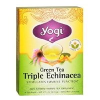 Yogi Herbal Tea Bags Green Tea Triple Echinacea,96 pk Food Product Image