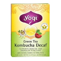 Yogi Herbal Tea Bags Decaf Green Tea Kombucha,96 pk Food Product Image
