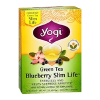 Yogi Green Tea Bags Blueberry Slim Life,96 pk Food Product Image
