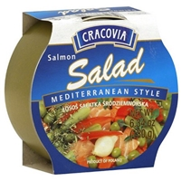 Cracovia Salmon Salad Mediterranean Style 6.34 Oz Food Product Image
