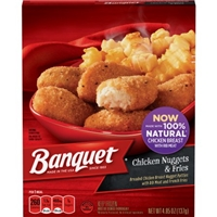 Banquet Chicken Nuggets & Fries Food Product Image