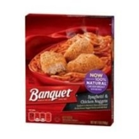 Banquet Spaghetti & Chicken Nuggets Food Product Image