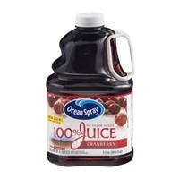 Ocean Spray 100% Juice No Sugar Added Cranberry Food Product Image