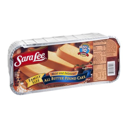 Sara Lee Pound Cake All Butter Food Product Image