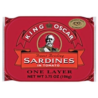 King Oscar Sardines in Zesty Tomato Sauce Food Product Image
