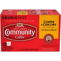Community Coffee Coffee and Chicory K-Cup Pods Food Product Image