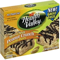 Health Valley Moist'n Chewy Granola Bars Moist N' Chewy Granola Bars, Peanut Crunch Food Product Image