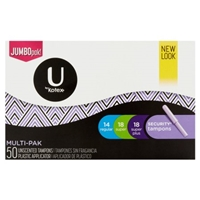 Kotex Natural Balance Security Plastic Applicator Multi-Pack Unscented Jumbo Pack Tampons Food Product Image