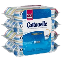 Cottonelle Flushable Cleansing Cloths FreshCare - 4 PK Food Product Image