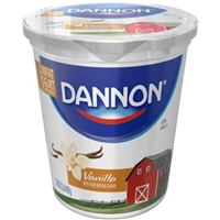 Dannon Lowfat Yogurt Kosher For Passover Vanilla Food Product Image