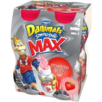 Dannon Danimals Strawberry Explosion Smoothie Food Product Image