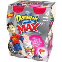 Dannon Danimals Swingin' Strawberry Banana Smoothie Food Product Image