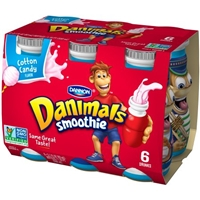 Dannon Danimals Smoothie Cotton Candy - 6 CT Food Product Image