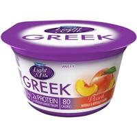 Dannon Light & Fit Greek Nonfat Yogurt Peach - 4 CT Food Product Image