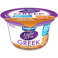 Dannon Light & Fit Greek Nonfat Yogurt Caramel Apple Pie Food Product Image