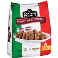 Cooked Perfect Homestyle Meatballs Bite Size - 128 CT Food Product Image