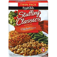 Food Club Stuffing Mix Stuffing Classics Chicken Twin Pk Food Product Image