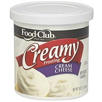 Food Club Frosting Creamy, Cream Cheese Food Product Image