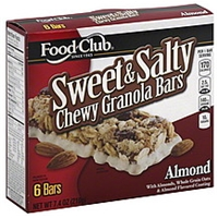 Food Club Granola Bars Chewy, Sweet & Salty, Almond Food Product Image