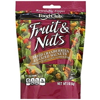Food Club Fruit & Nuts Dried Cranberries & Glazed Walnuts Food Product Image