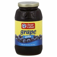Clear Value Grape Jelly Food Product Image