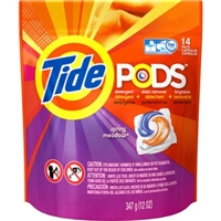 Tide Pods Spring Meadow Detergent + Stain Remover + Brightener - 14 Ct Food Product Image