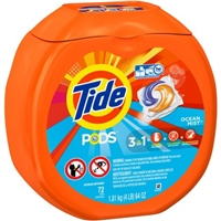 Pods He Laundry Detergent Ocean Mist Food Product Image