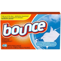 Bounce Dryer Sheets Fresh Linen Scent Food Product Image
