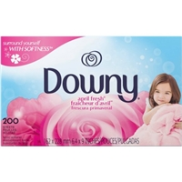Downy April Fresh Scent Dryer Sheets 200 Count Food Product Image