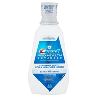 Crest Pro-Health Advance with Extra Whitening Alcohol Free Mouthwash Food Product Image