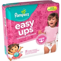 Pampers Easy Ups Girls Nickelodeon Dora the Explorer Jumbo Training Pants, 26 Count Food Product Image