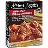 Michael Angelo's Frozen Dinner Sausage & Meatballs Food Product Image