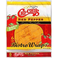 Chi-Chi's Chips & Tortillas Flour Tortillas Bistro Wraps Red Pepper Food Product Image