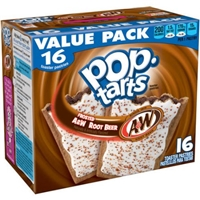 Pop-Tarts Frosted A&W Root Beer Toaster Pastries, 16 ct, 28.2 oz Food Product Image