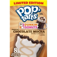Kellogg's Pop Tarts Dunkin Donuts Chocolate Mocha Toaster Pastries Food Product Image