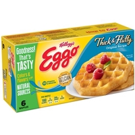 Kellogg's Eggo Thick & Fluffy Original Recipe Waffles - 6 Ct Food Product Image