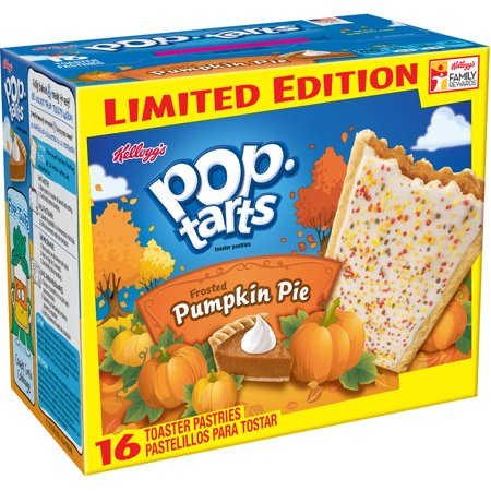 Kellogg's Pop-Tarts Frosted Pumpkin Pie Toaster Pastries, 16ct Food Product Image