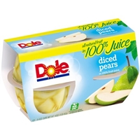 Dole Diced Pears - 4 CT Food Product Image