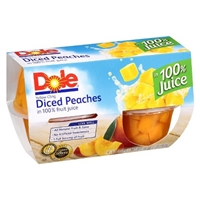 Dole Diced Peaches - 4 CT Food Product Image