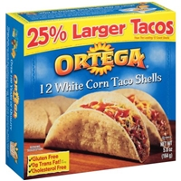 Ortega White Corn Taco Shells - 12 CT Food Product Image