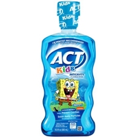 Act Kids Anticavity Fluoride Rinse SpongeBob SquarePants Ocean Berry Food Product Image