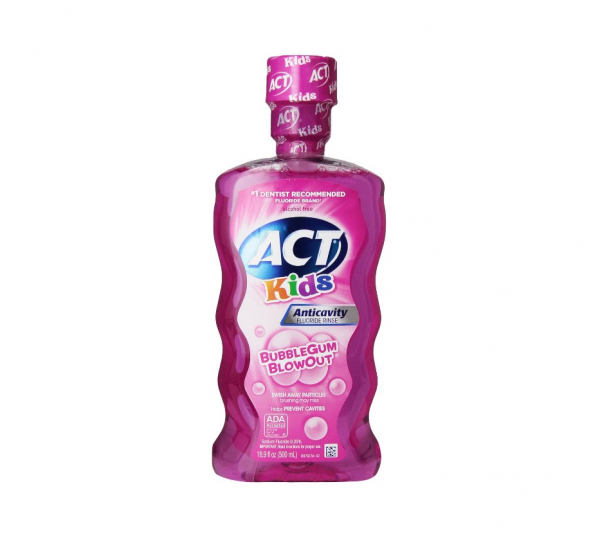 ACT Kids Anticavity Fluoride Rinse Bubble Gum Blow Out Food Product Image