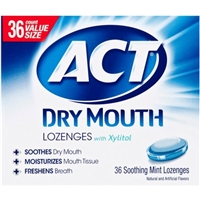 ACT Total Care Dry Mouth Lozenges Mint Food Product Image